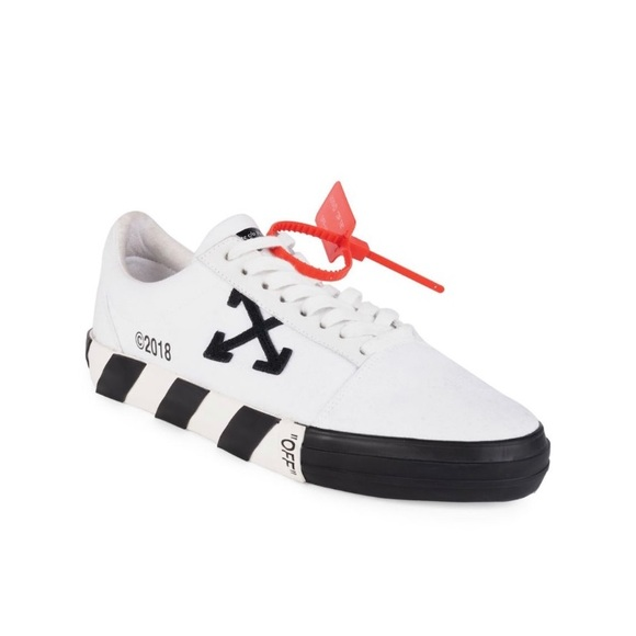 Off White Vulcanized Striped Lowtop